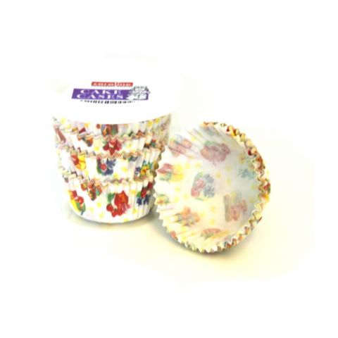100 x Patterned Paper Baking Cake Cases 5.5cm